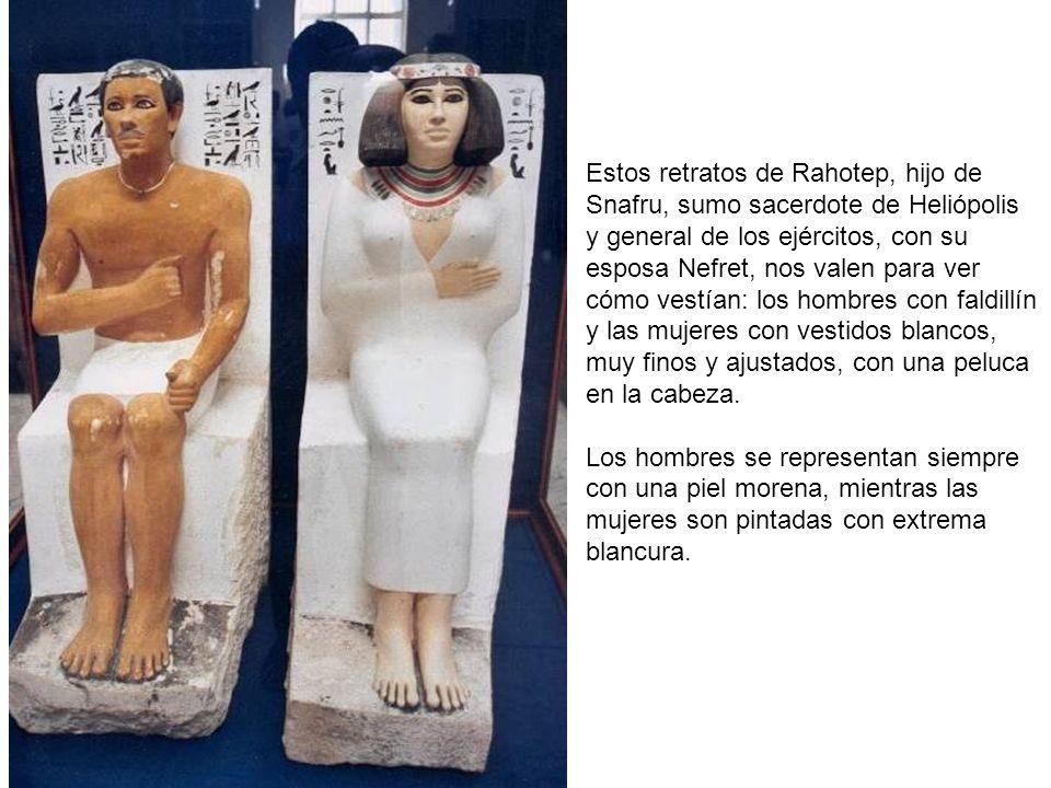 Estos retratos de Rahotep, hijo de