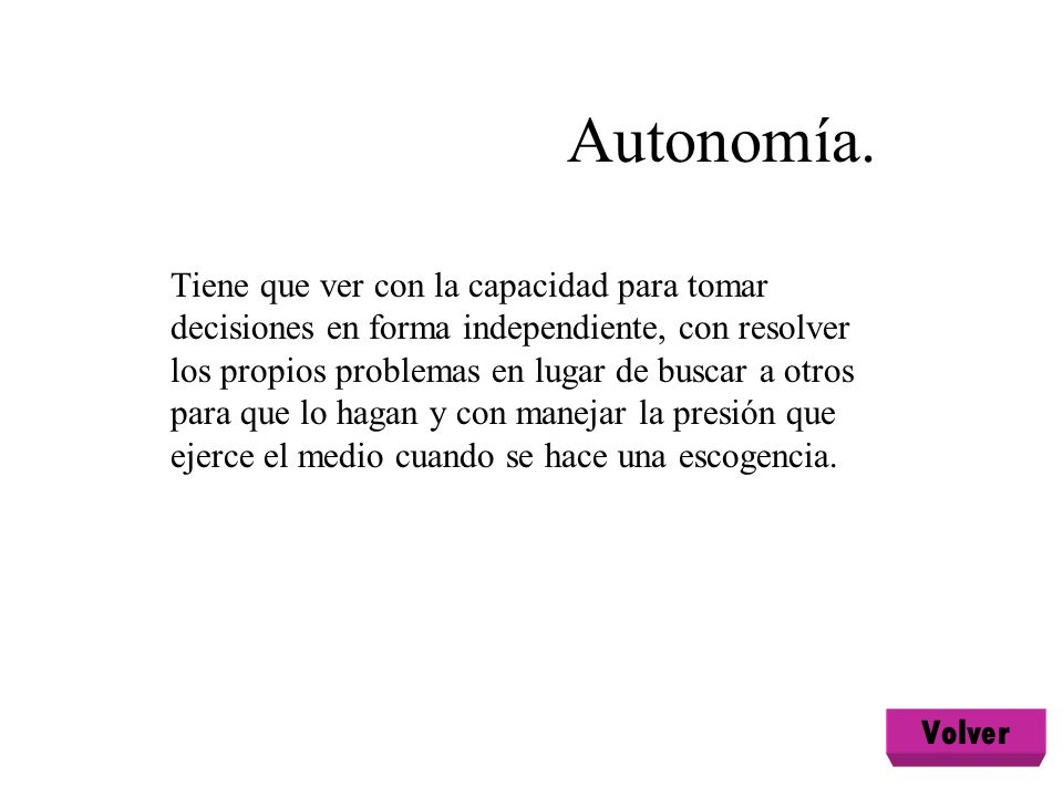 Autonomía.