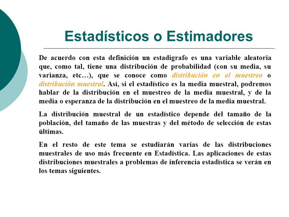 Estadísticos o Estimadores