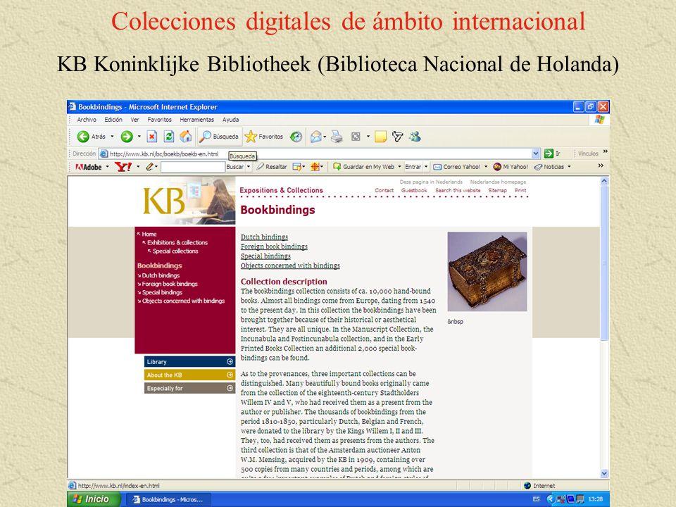 Colecciones digitales de ámbito internacional