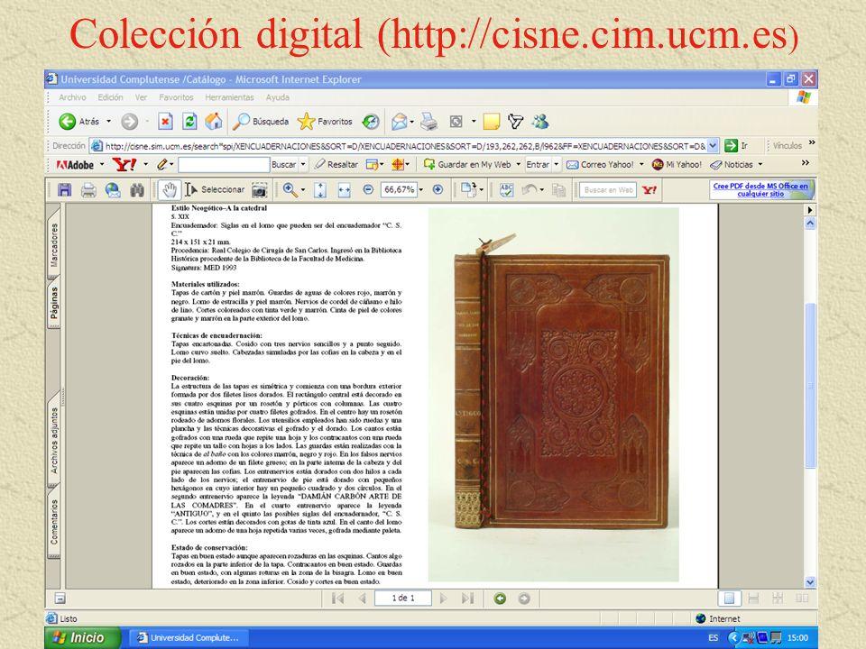 Colección digital (http://cisne.cim.ucm.es)