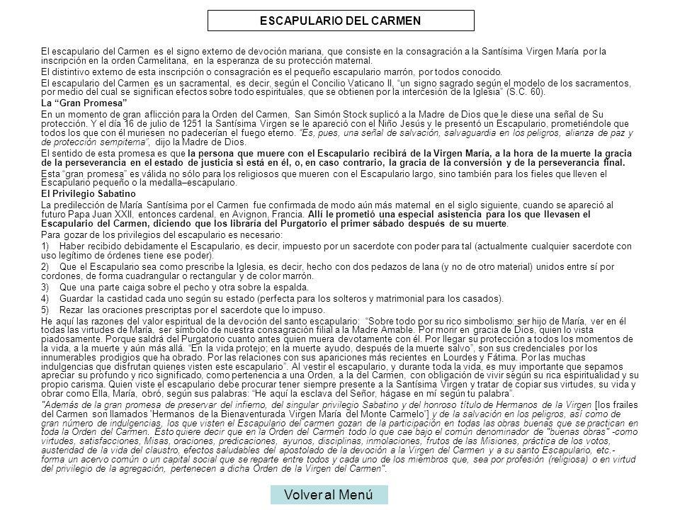 ESCAPULARIO DEL CARMEN