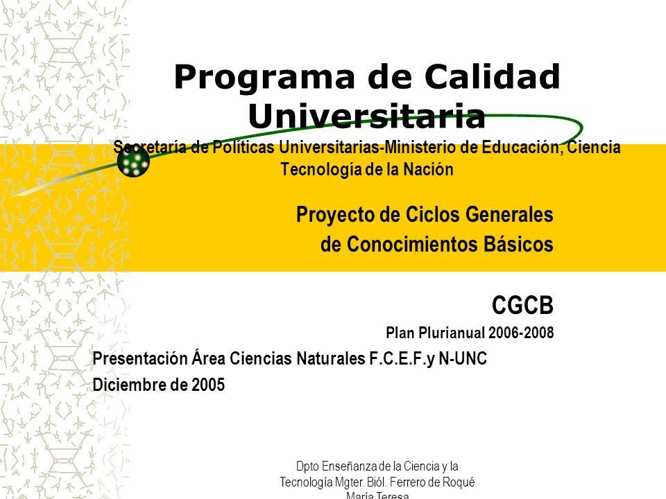 Integrante Comisión ad-hoc Ciencias Naturales F.C.E.F y N.UNC