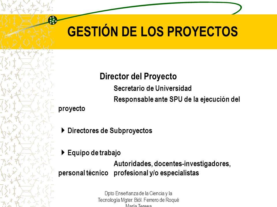 GESTIÓN DE LOS PROYECTOS