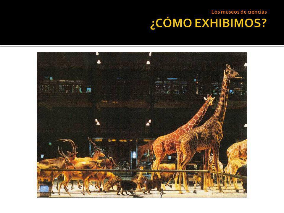 Los museos de ciencias ¿CÓMO EXHIBIMOS