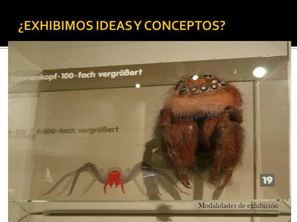 ¿EXHIBIMOS IDEAS Y CONCEPTOS