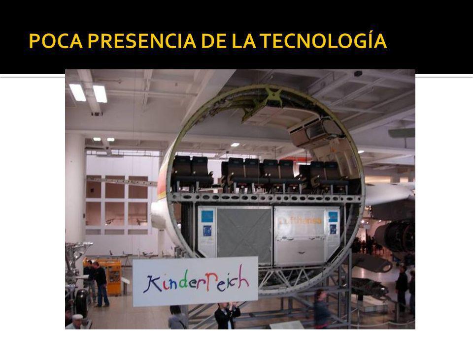 POCA PRESENCIA DE LA TECNOLOGÍA