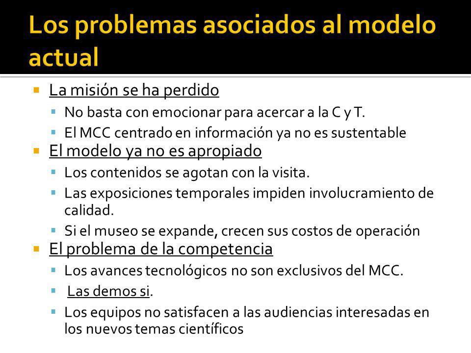 Los problemas asociados al modelo actual