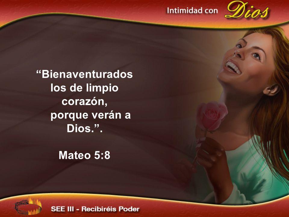 Bienaventurados los de limpio corazón, porque verán a Dios. .