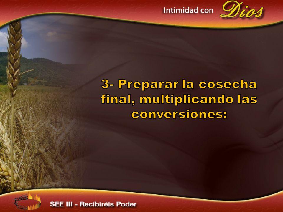 3- Preparar la cosecha final, multiplicando las conversiones: