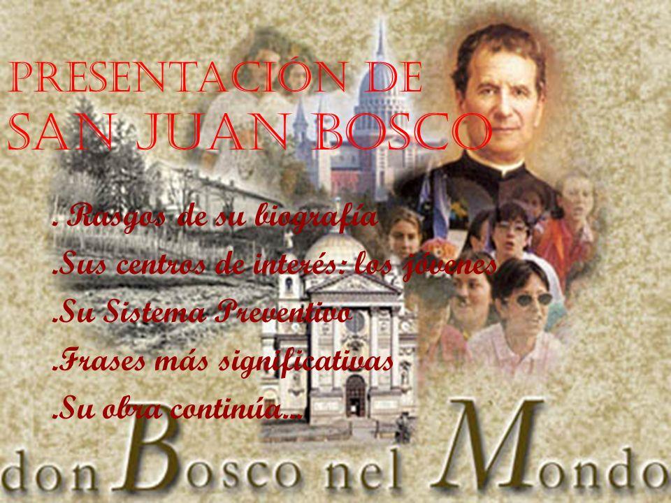 Presentación de San Juan Bosco