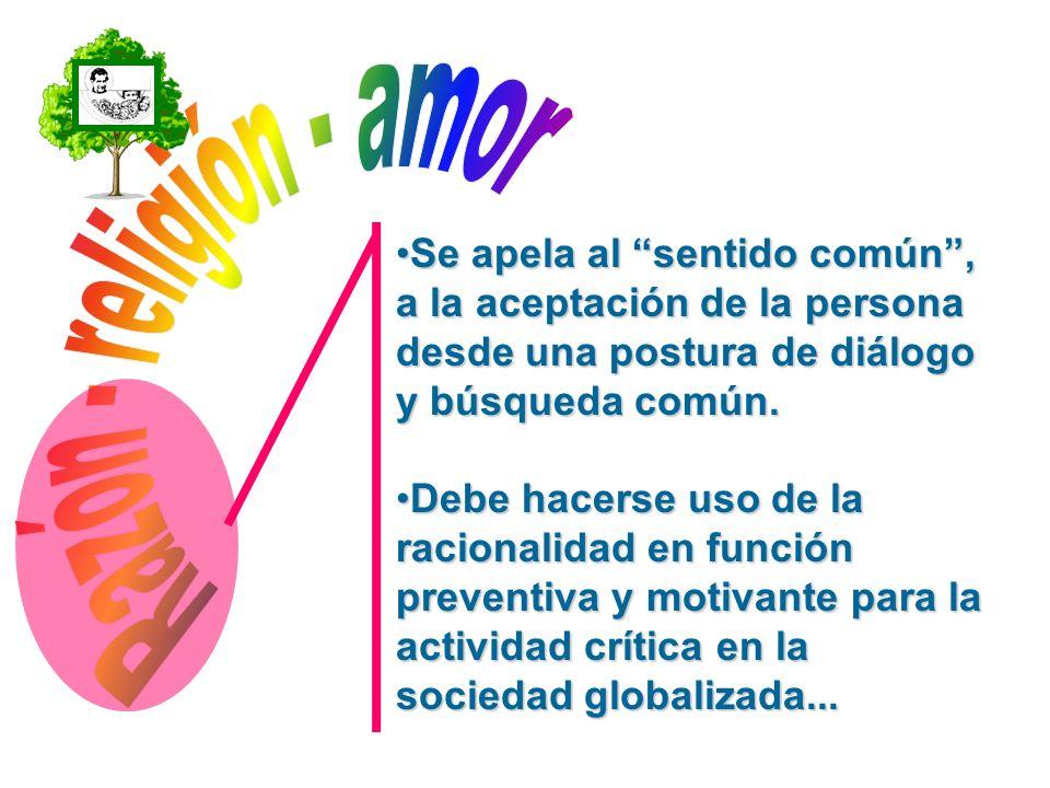 Razón - religión - amor Se apela al sentido común ,