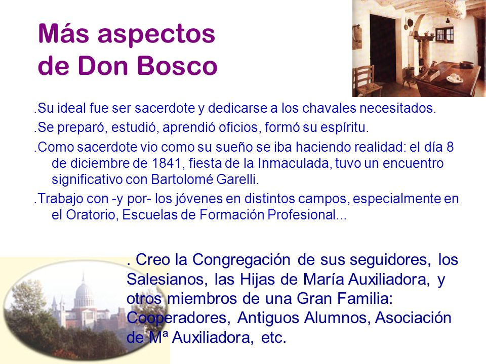 Más aspectos de Don Bosco