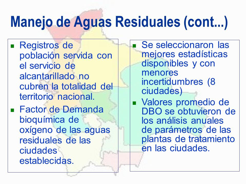 Manejo de Aguas Residuales (cont...)