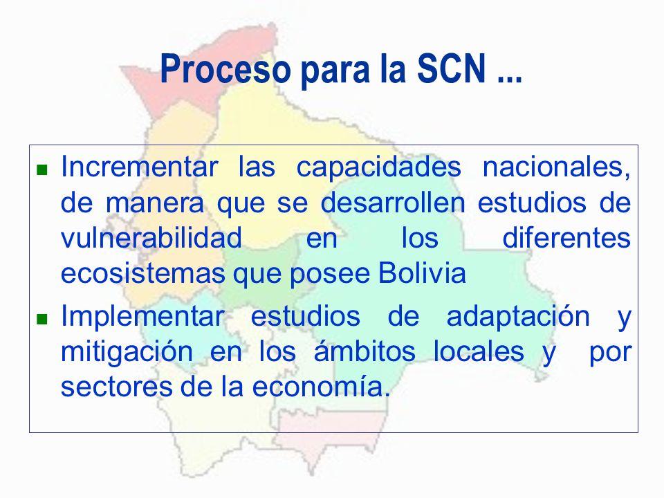 Proceso para la SCN ...
