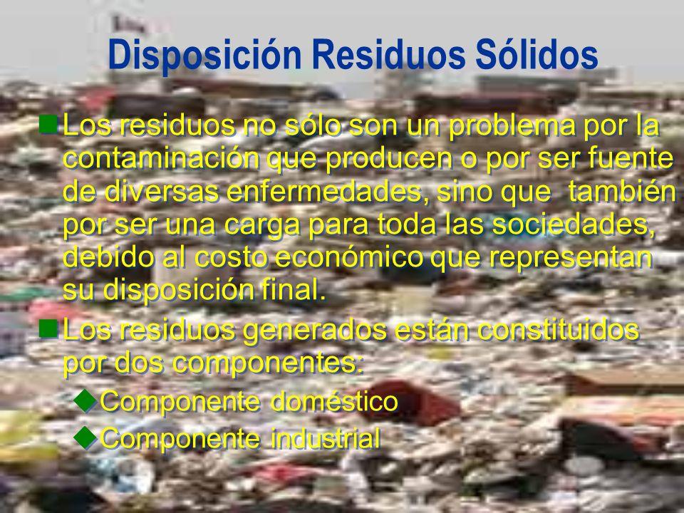 Disposición Residuos Sólidos