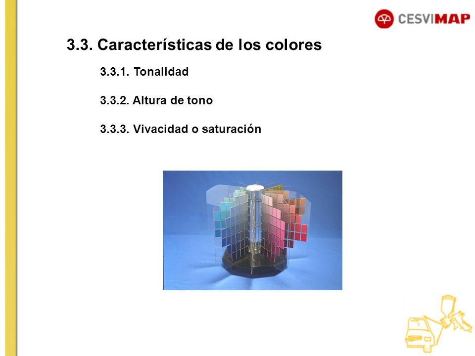 3.3. Características de los colores