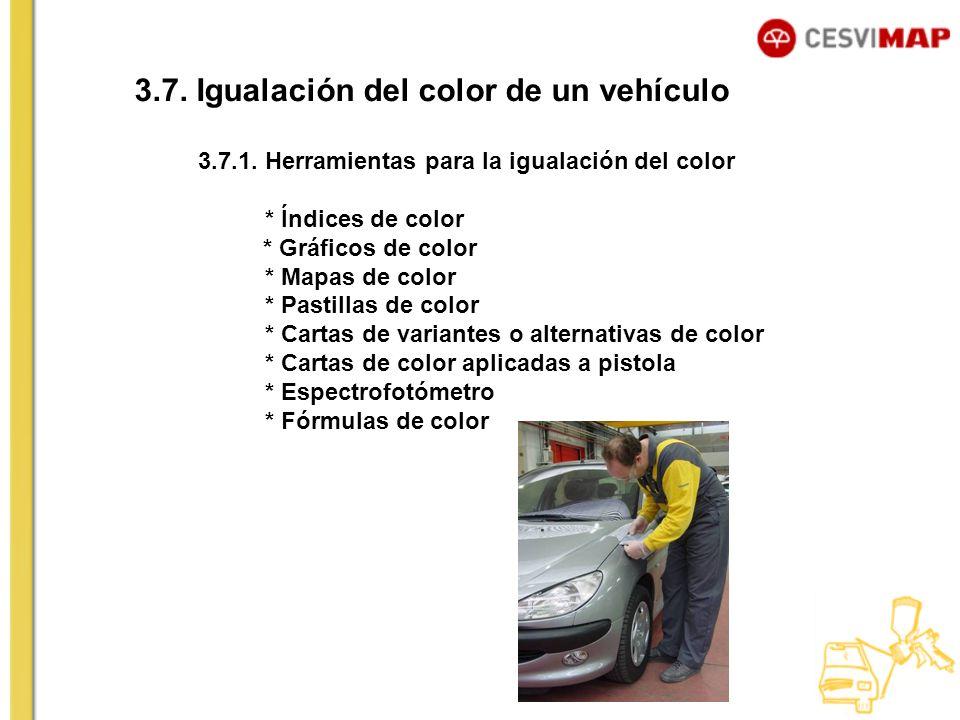 3.7. Igualación del color de un vehículo
