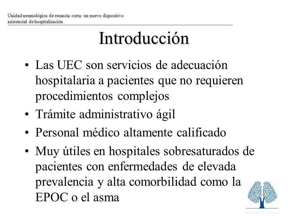 Unidad neumológica de estancia corta: un nuevo dispositivo asistencial de hospitalización