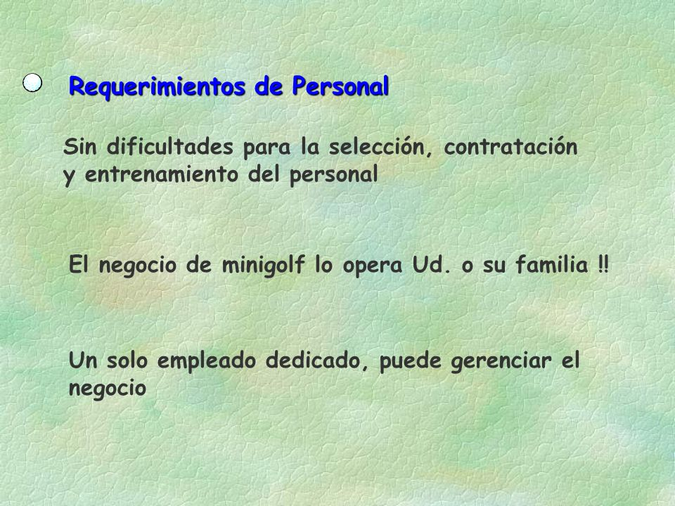 Requerimientos de Personal