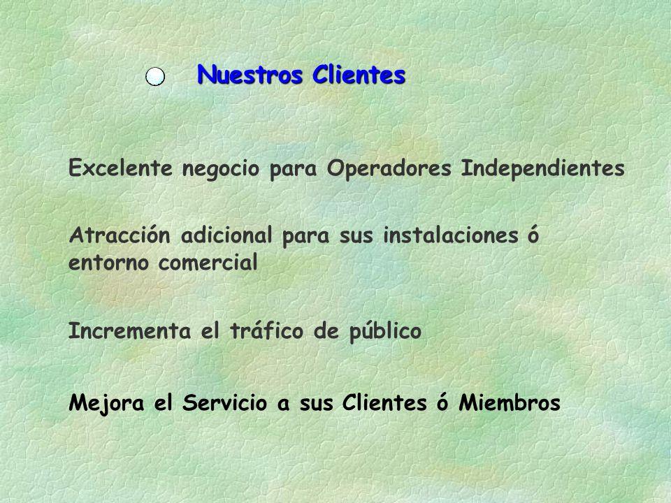 Nuestros Clientes Excelente negocio para Operadores Independientes
