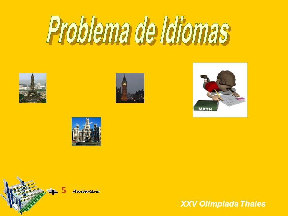 Problema de Idiomas XXV Olimpiada Thales