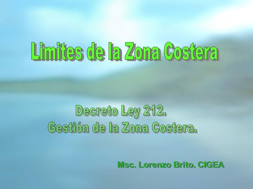 Limites de la Zona Costera Gestión de la Zona Costera.