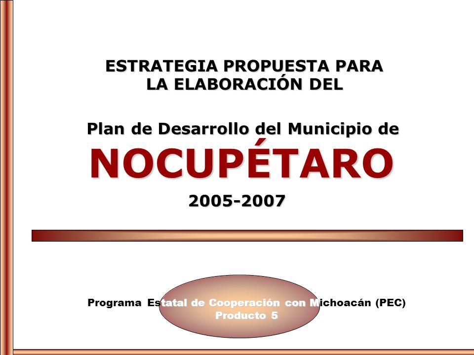 NOCUPÉTARO ESTRATEGIA PROPUESTA PARA LA ELABORACIÓN DEL