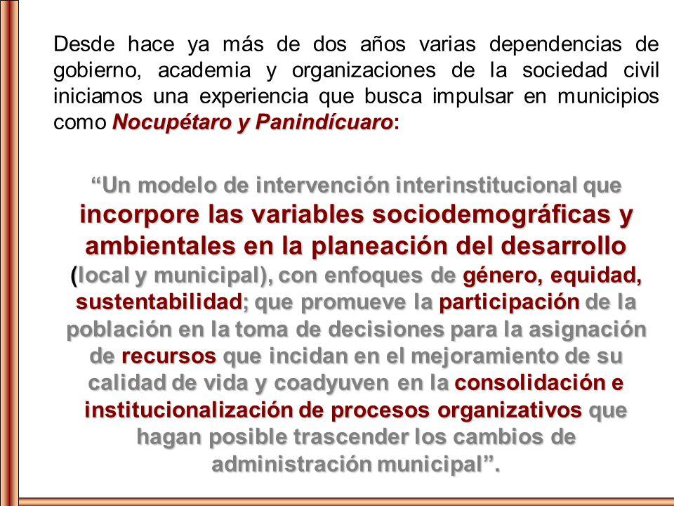 Desde hace ya más de dos años varias dependencias de gobierno, academia y organizaciones de la sociedad civil iniciamos una experiencia que busca impulsar en municipios como Nocupétaro y Panindícuaro: