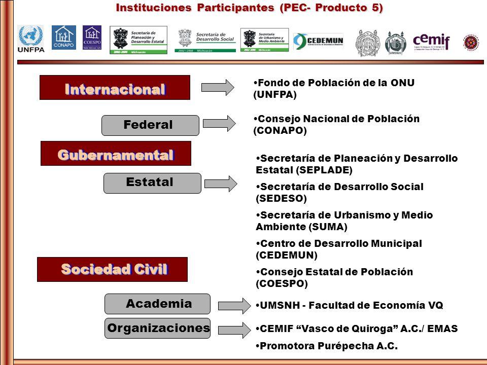 Instituciones Participantes (PEC- Producto 5)