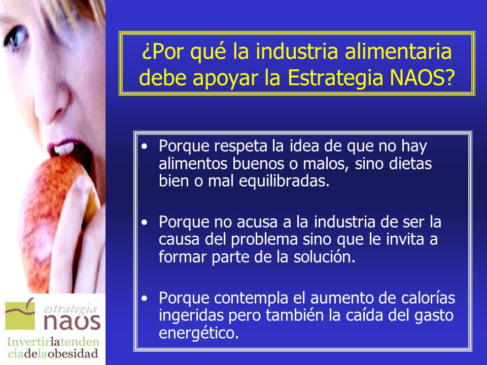 ¿Por qué la industria alimentaria debe apoyar la Estrategia NAOS