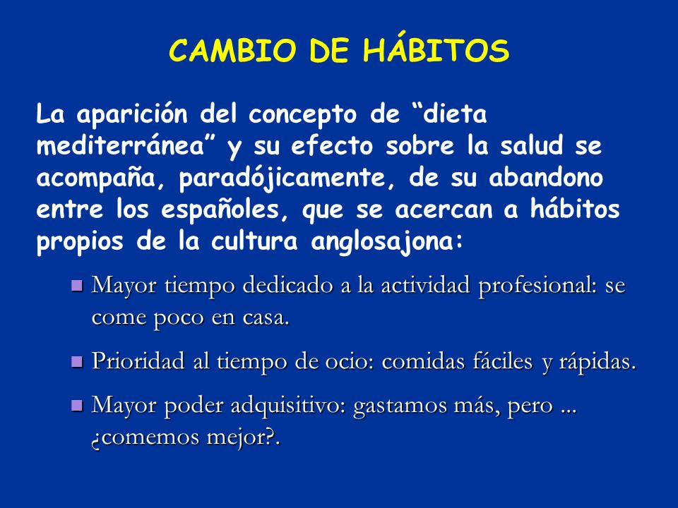 CAMBIO DE HÁBITOS