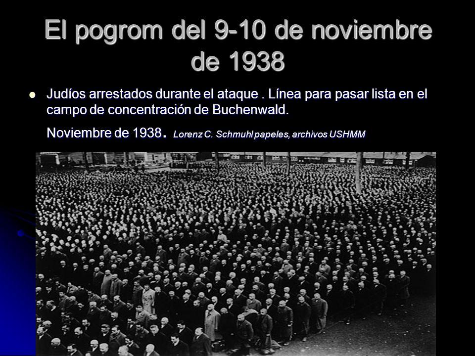 El pogrom del 9-10 de noviembre de 1938