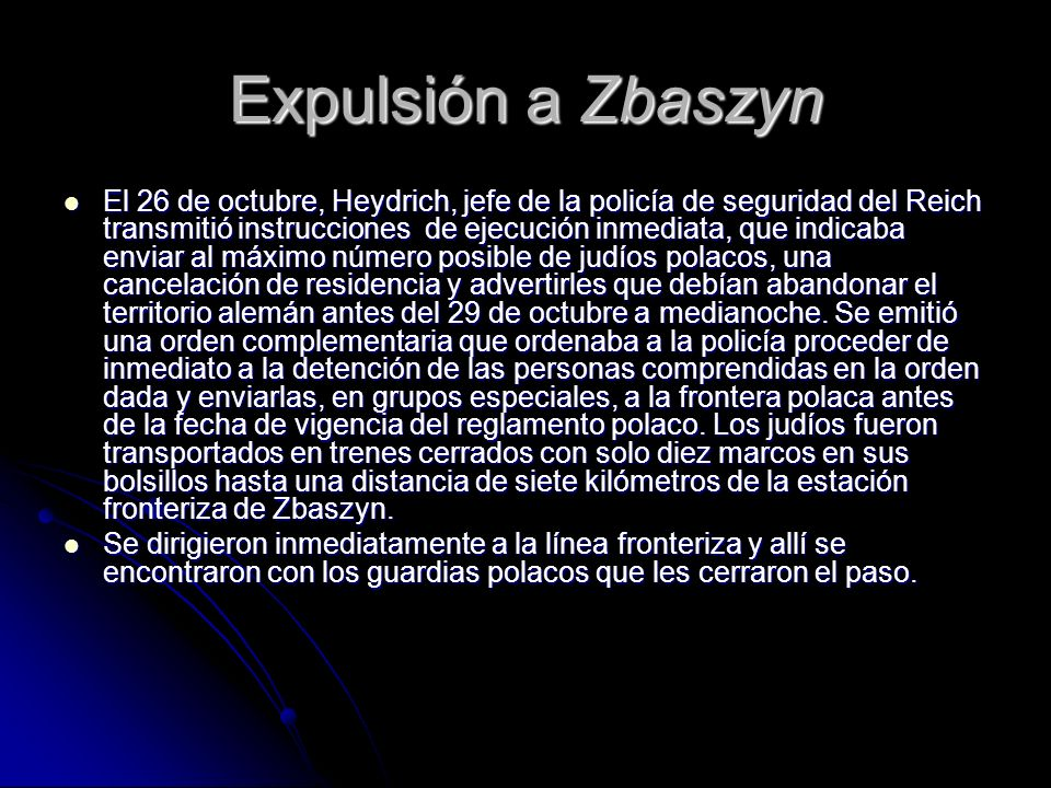 Expulsión a Zbaszyn