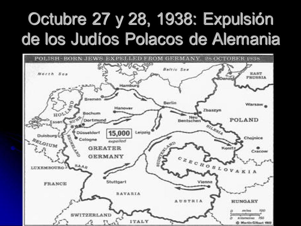 Octubre 27 y 28, 1938: Expulsión de los Judíos Polacos de Alemania