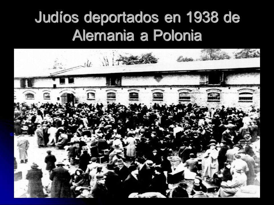 Judíos deportados en 1938 de Alemania a Polonia