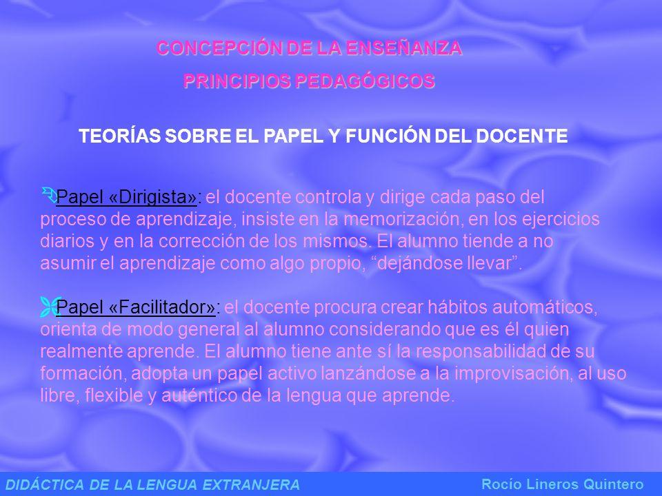 CONCEPCIÓN DE LA ENSEÑANZA PRINCIPIOS PEDAGÓGICOS