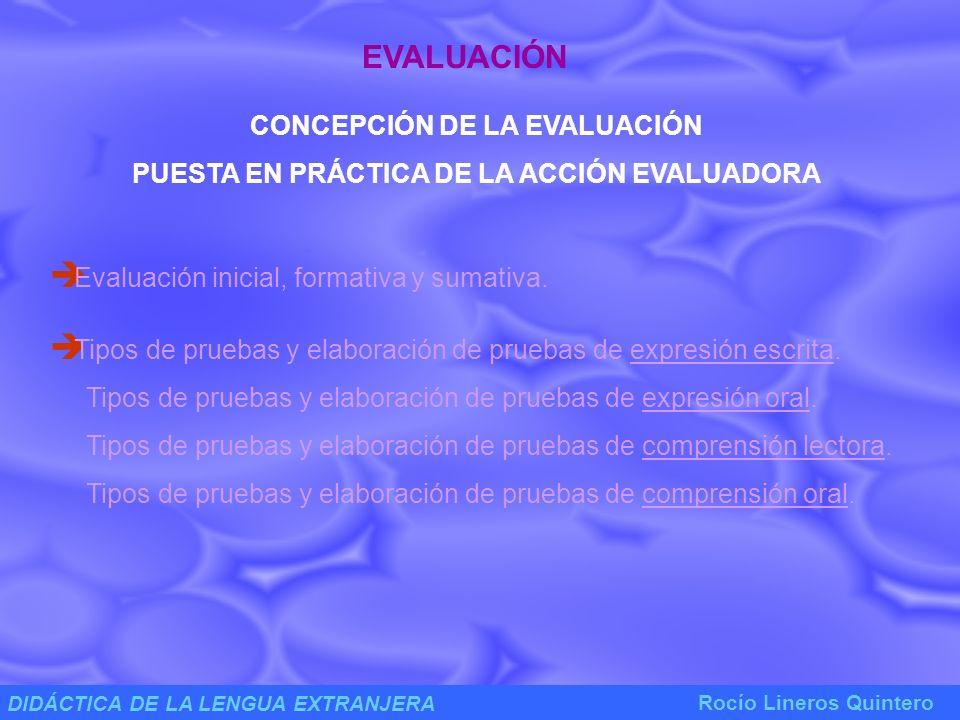 EVALUACIÓN CONCEPCIÓN DE LA EVALUACIÓN