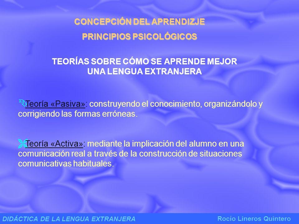 CONCEPCIÓN DEL APRENDIZJE PRINCIPIOS PSICOLÓGICOS