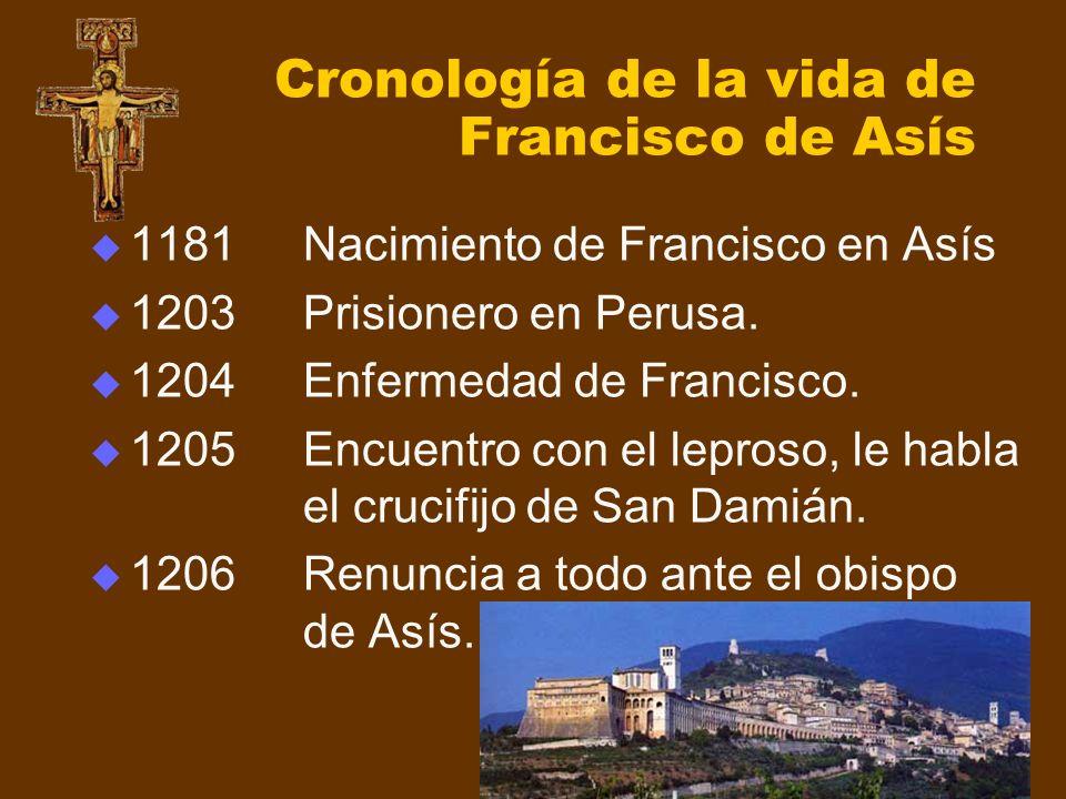 Cronología de la vida de Francisco de Asís