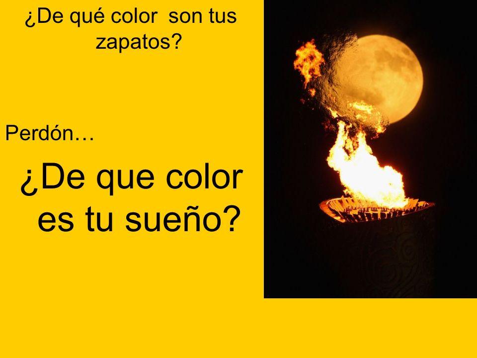 ¿De que color es tu sueño