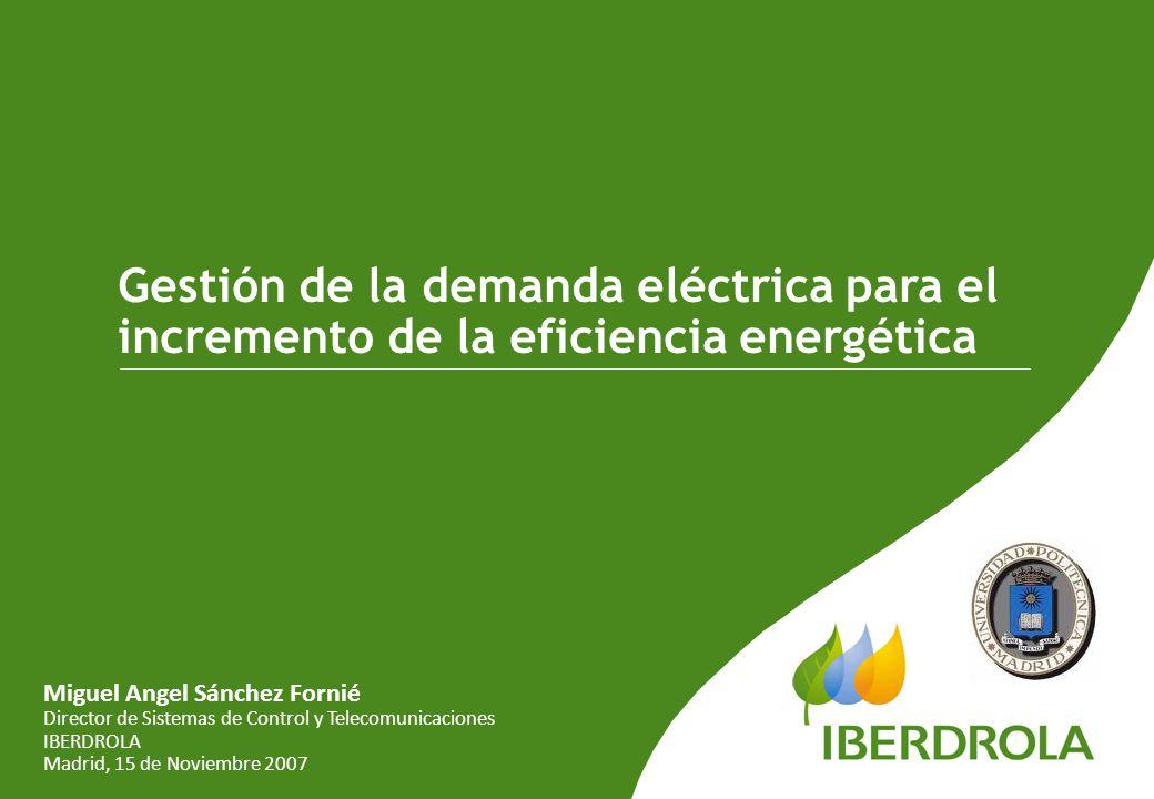 Gestión de la demanda eléctrica para el incremento de la eficiencia energética