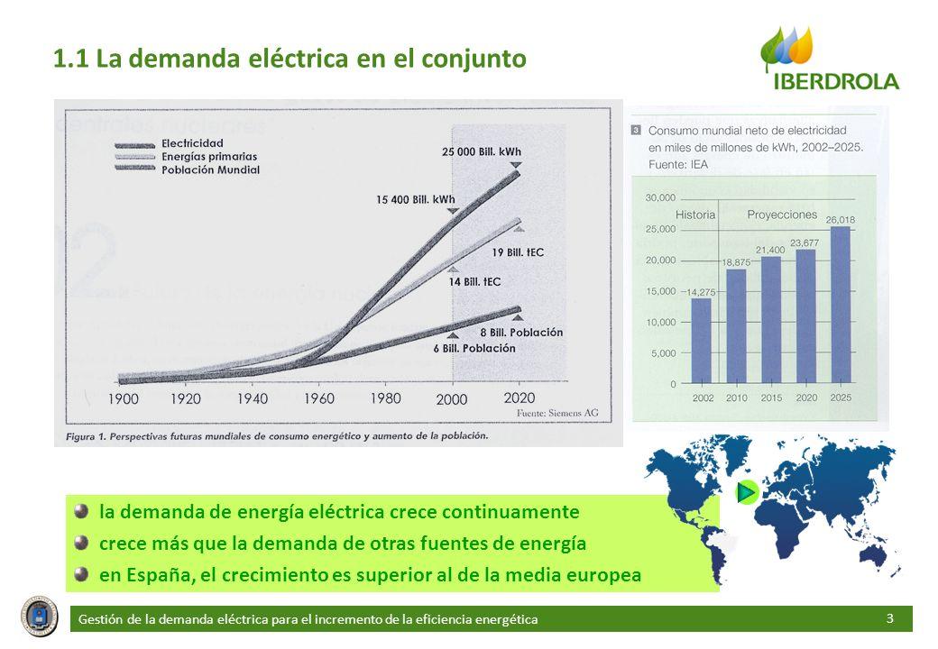 1.1 La demanda eléctrica en el conjunto