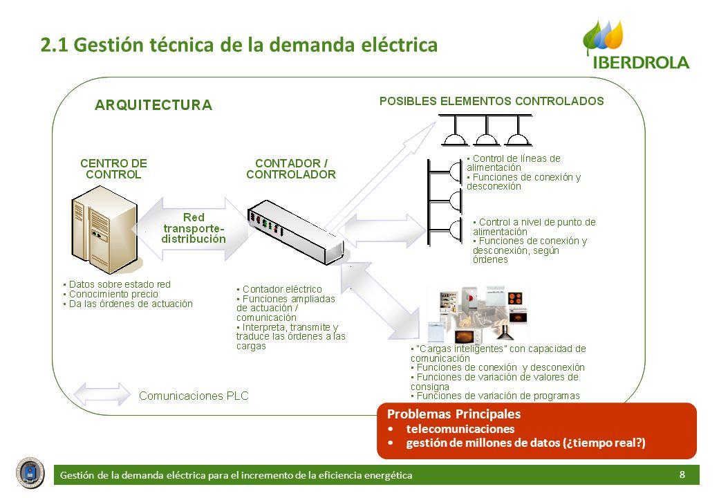 2.1 Gestión técnica de la demanda eléctrica