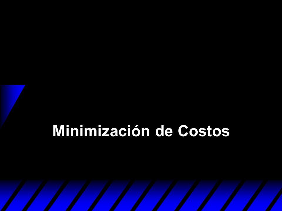 Minimización de Costos