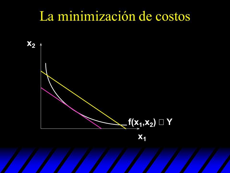 La minimización de costos
