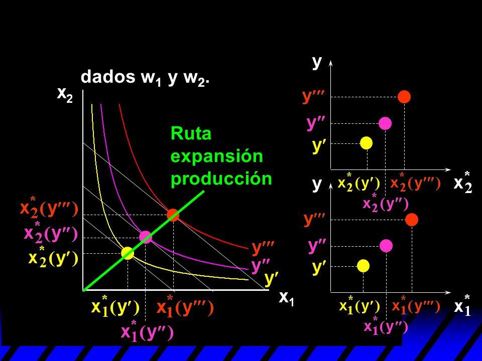 dados w1 y w2. Ruta expansión producción