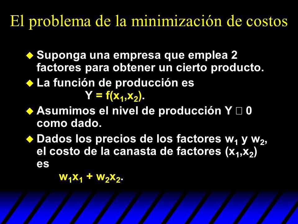 El problema de la minimización de costos