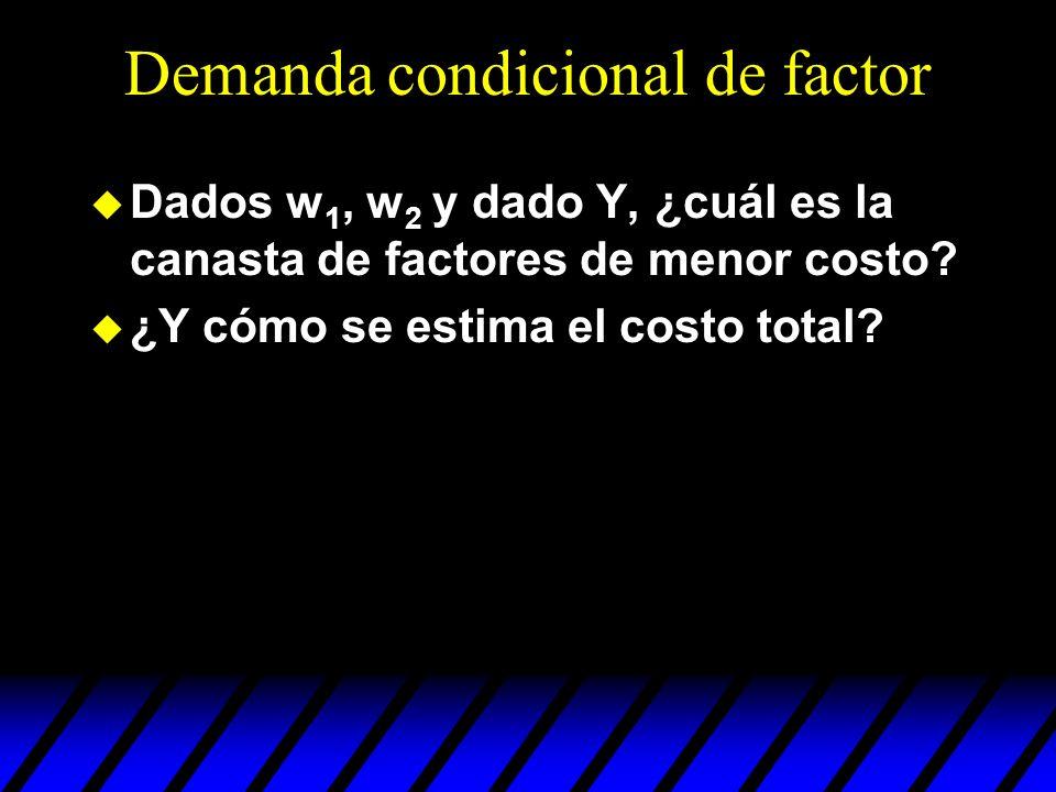 Demanda condicional de factor
