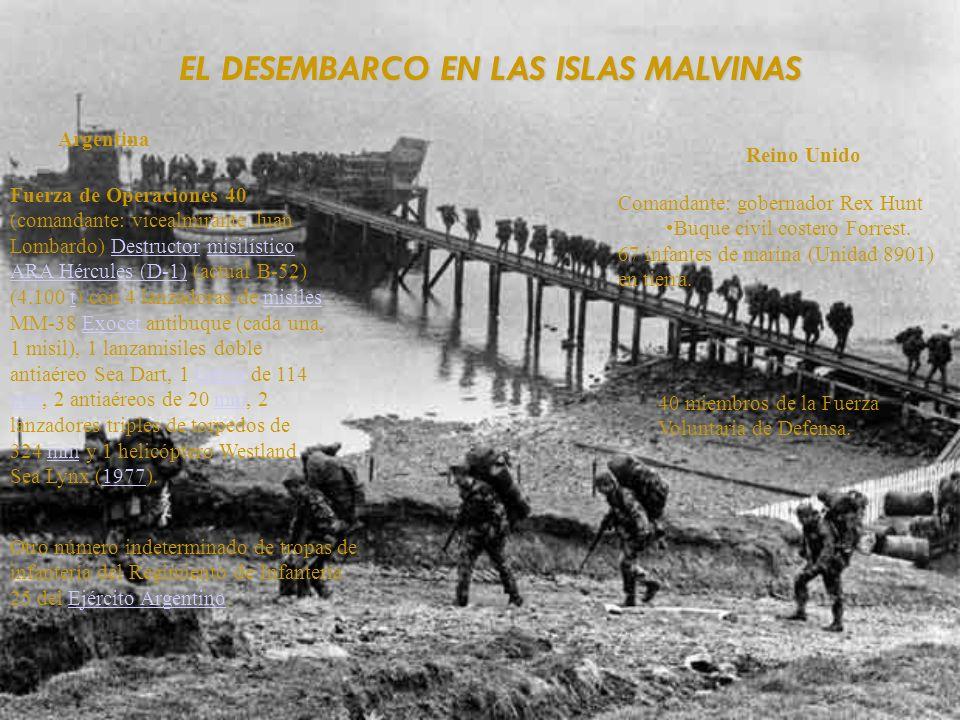 EL DESEMBARCO EN LAS ISLAS MALVINAS